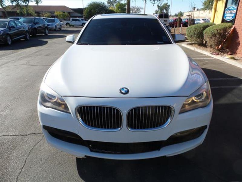 2012 BMW 7 SERIES 750I 4DR SEDAN white exhaust tip color chromeexhaust dual exhaust tipsgrille