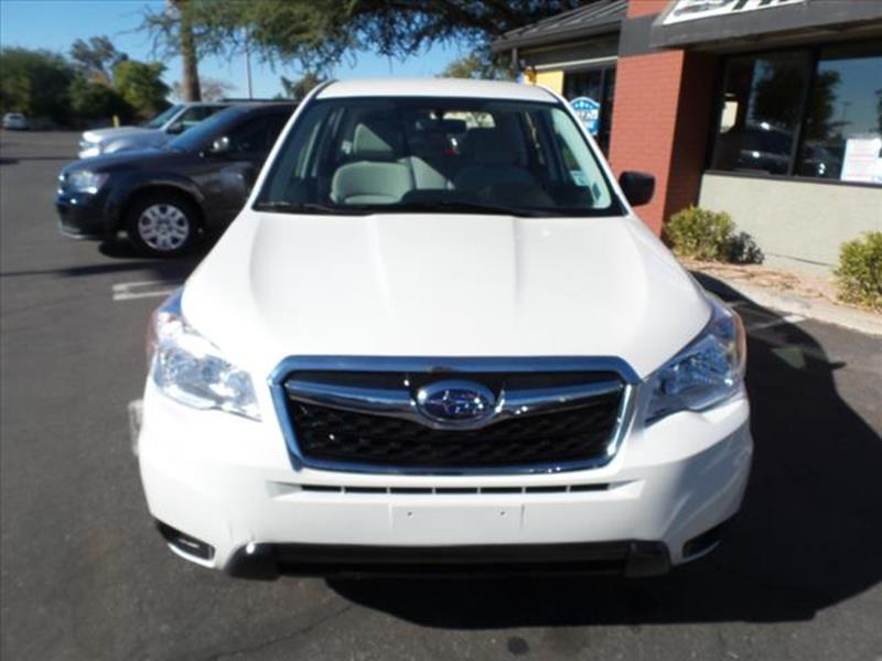 2016 SUBARU FORESTER 25I AWD 4DR WAGON CVT white exhaust tip color metallicgrille color black w