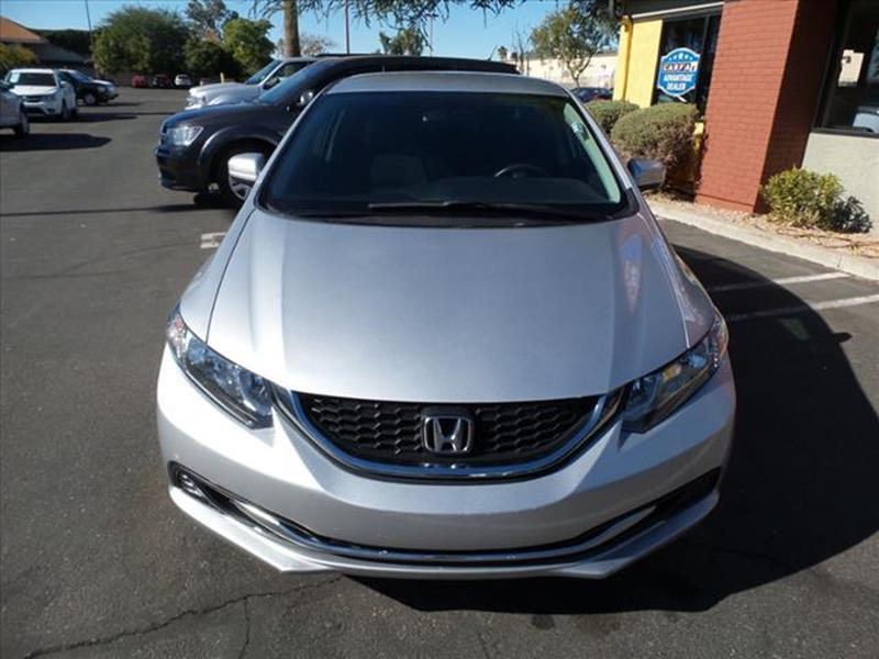 2015 HONDA CIVIC LX 4DR SEDAN CVT silver exhaust hidden exhaustgrille color blackmirror color b