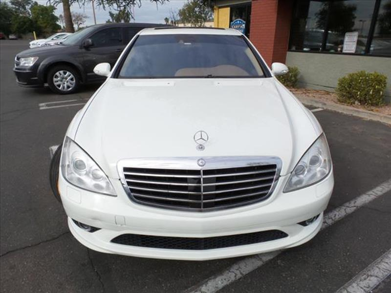 2007 MERCEDES-BENZ S-CLASS S 550 4DR SEDAN white grille color chrometowing and hauling cargo tie