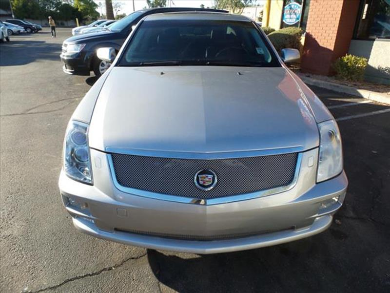 2007 CADILLAC STS V8 silver towing and hauling cargo tie downscargo area lightcenter console tr