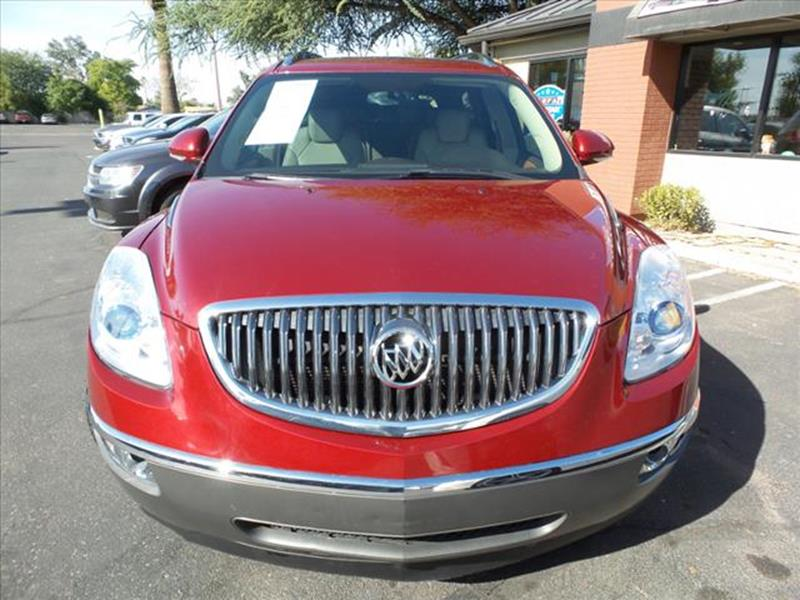 2008 BUICK ENCLAVE CXL 4DR CROSSOVER dk red grille color chrome3rd row floor matscargo area fl