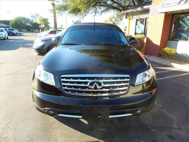 2007 INFINITI FX35 BASE 4DR SUV black grille color chromerear spoilertowing and hauling cargo t