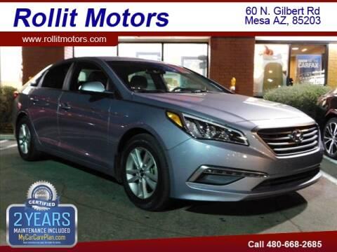 2015 Hyundai Sonata SE for sale at Rollit Motors in Mesa AZ
