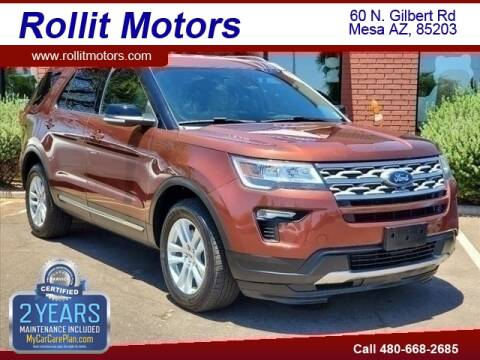 2018 Ford Explorer for sale at Rollit Motors in Mesa AZ