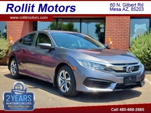 2018 Honda Civic for sale at Rollit Motors in Mesa AZ