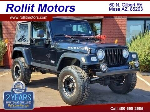 2005 Jeep Wrangler for sale at Rollit Motors in Mesa AZ
