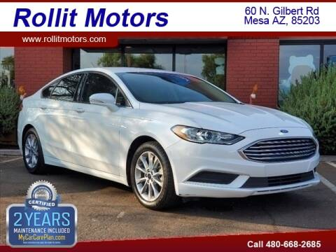 2017 Ford Fusion for sale at Rollit Motors in Mesa AZ