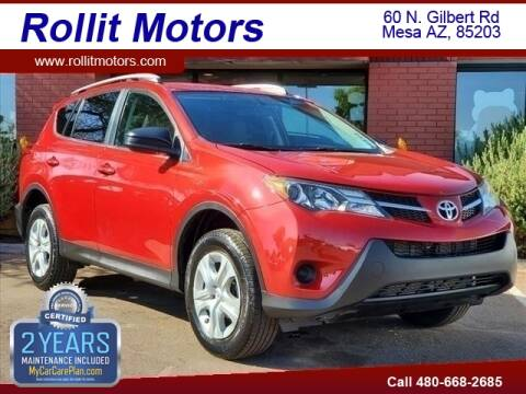 2015 Toyota RAV4 for sale at Rollit Motors in Mesa AZ