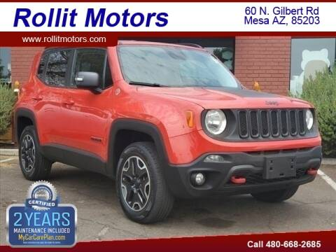2016 Jeep Renegade for sale at Rollit Motors in Mesa AZ