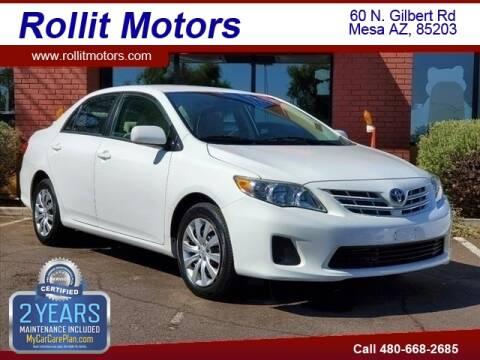 2013 Toyota Corolla for sale at Rollit Motors in Mesa AZ
