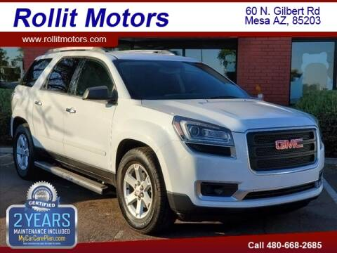 2016 GMC Acadia for sale at Rollit Motors in Mesa AZ