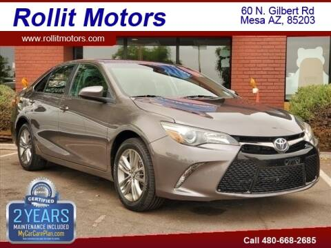2017 Toyota Camry for sale at Rollit Motors in Mesa AZ