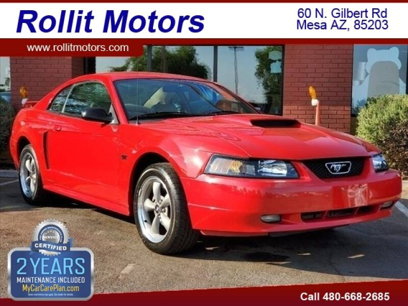 2002 Ford Mustang for sale at Rollit Motors in Mesa AZ