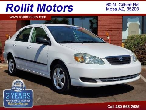 2007 Toyota Corolla for sale at Rollit Motors in Mesa AZ