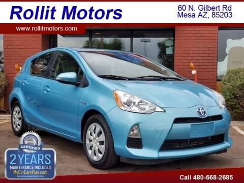 2014 Toyota Prius c for sale at Rollit Motors in Mesa AZ