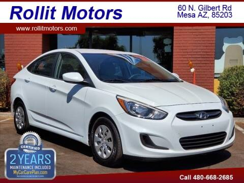 2016 Hyundai Accent for sale at Rollit Motors in Mesa AZ