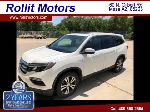 2016 Honda Pilot for sale at Rollit Motors in Mesa AZ