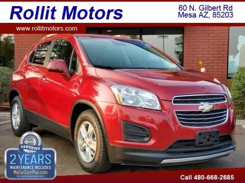 2015 Chevrolet Trax for sale at Rollit Motors in Mesa AZ