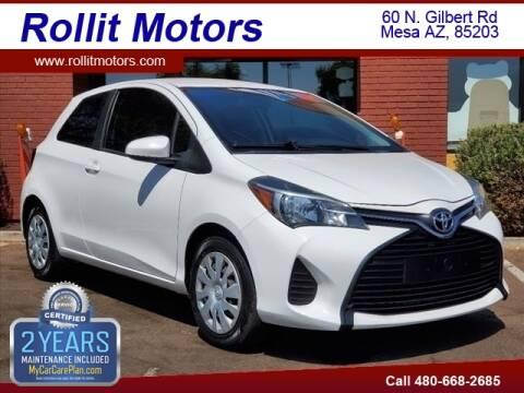 2015 Toyota Yaris for sale at Rollit Motors in Mesa AZ