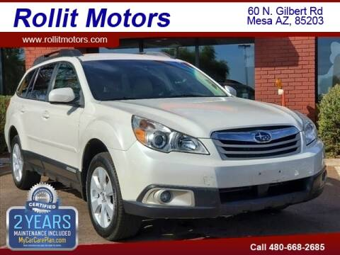 2012 Subaru Outback for sale at Rollit Motors in Mesa AZ
