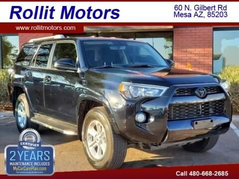 2018 Toyota 4Runner for sale at Rollit Motors in Mesa AZ