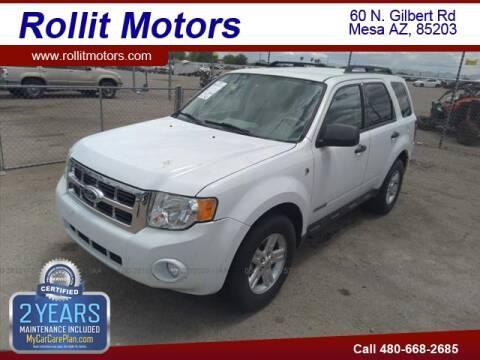2008 Ford Escape Hybrid for sale at Rollit Motors in Mesa AZ