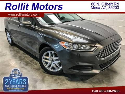 2016 Ford Fusion for sale at Rollit Motors in Mesa AZ