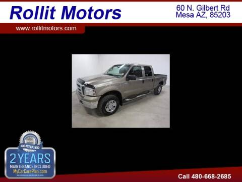2005 Ford F-250 Super Duty for sale at Rollit Motors in Mesa AZ