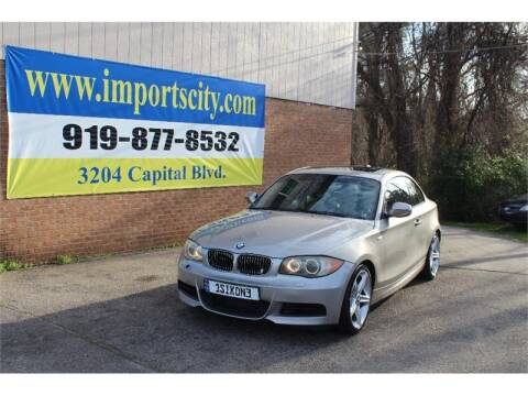 2010 BMW 1 Series 135i for sale at Imports City of Raleigh in Raleigh NC