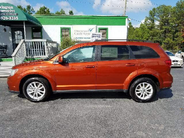 2013 DODGE JOURNEY SXT 4DR SUV orange 2-stage unlocking doors abs - 4-wheel active head restrai