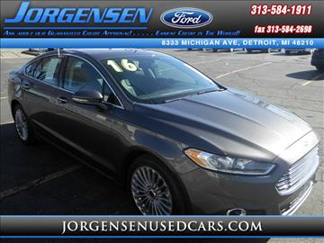 2016 Ford Fusion for sale in Detroit, MI