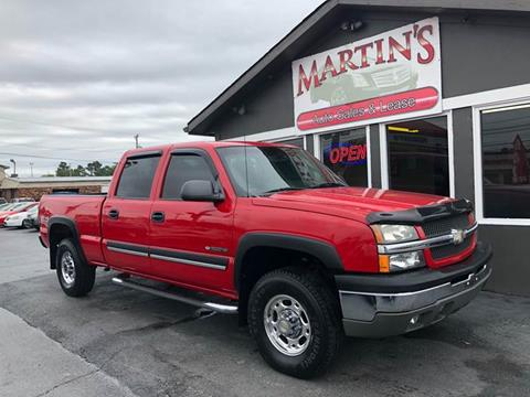 2003 Chevrolet Silverado 1500HD for sale at Martins Auto Sales in Shelbyville KY