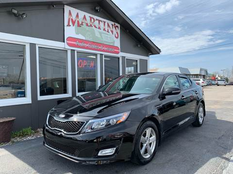 2015 Kia Optima for sale at Martins Auto Sales in Shelbyville KY
