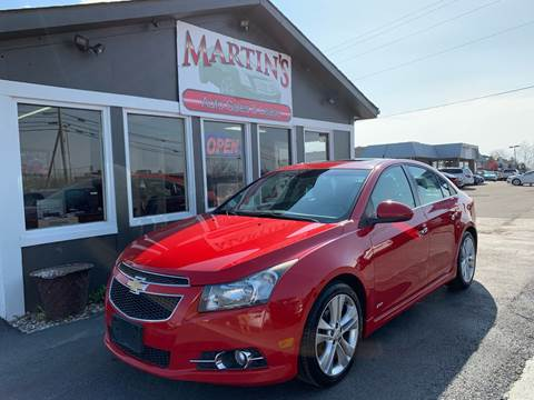 2012 Chevrolet Cruze for sale at Martins Auto Sales in Shelbyville KY