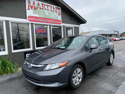 2012 Honda Civic for sale at Martins Auto Sales in Shelbyville KY