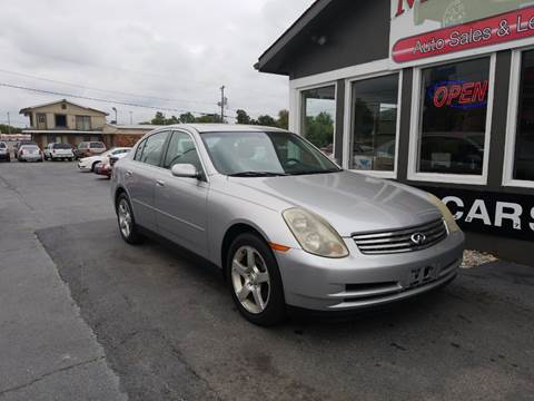 2003 Infiniti G35 for sale at Martins Auto Sales in Shelbyville KY