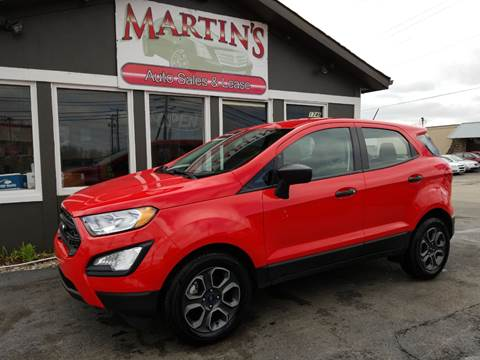 2018 Ford EcoSport for sale at Martins Auto Sales in Shelbyville KY