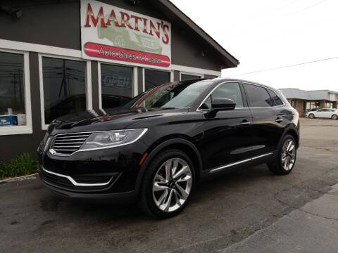 2016 Lincoln MKX for sale at Martins Auto Sales in Shelbyville KY