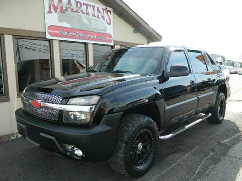2003 Chevrolet Avalanche for sale at Martins Auto Sales in Shelbyville KY