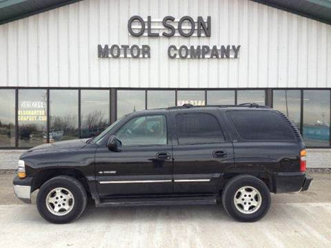 2002 Chevrolet Tahoe for sale at Olson Motor Company in Morris MN