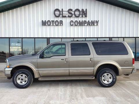 2002 Ford Excursion for sale at Olson Motor Company in Morris MN