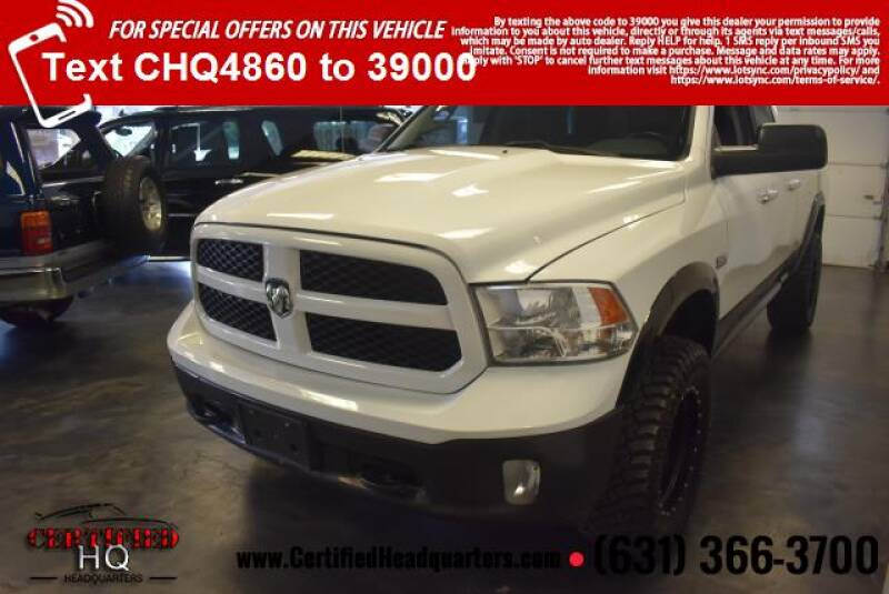 "2014 RAM Ram Pickup 1500 4WD Quad Cab 140.5"" Outdoorsman - St James NY"