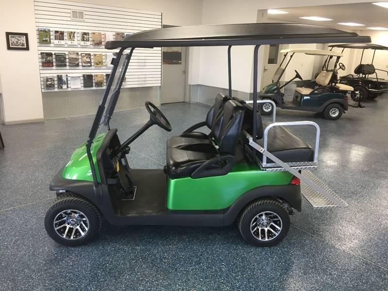 2015 Club Car Precedent Custom Green Paint W Flip Rear Seat In