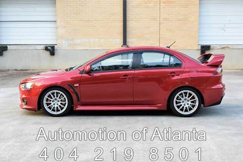 2014 Mitsubishi Lancer Evolution for sale at Automotion Of Atlanta in Conyers GA