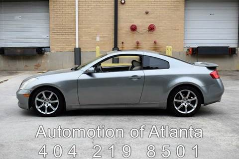 2003 Infiniti G35 for sale at Automotion Of Atlanta in Conyers GA