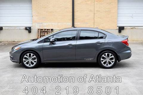 2012 Honda Civic for sale at Automotion Of Atlanta in Conyers GA