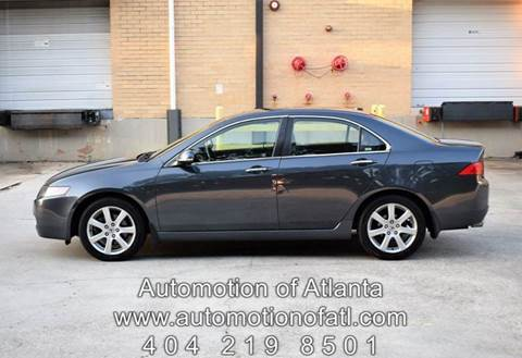 2005 Acura TSX for sale at Automotion Of Atlanta in Conyers GA