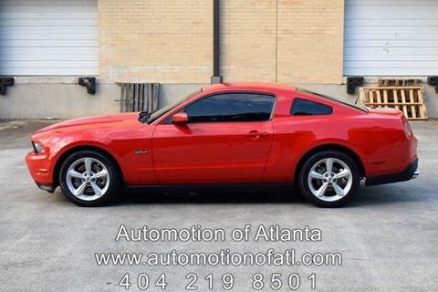 2012 Ford Mustang for sale at Automotion Of Atlanta in Conyers GA