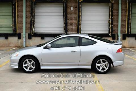 2002 Acura RSX for sale at Automotion Of Atlanta in Conyers GA